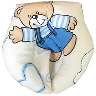 Deseda - Perna pt formarea capului bebelusului Deluxe - Ursuleti albastri pe alb