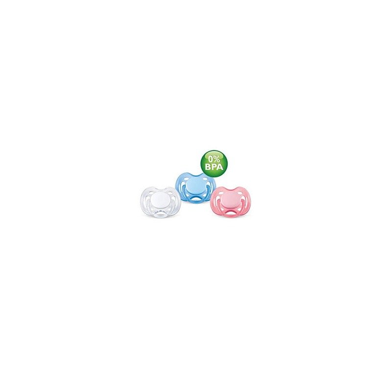 Philips Avent Suzete 0-6 luni Twin pack freeflow BPA FREE