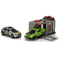 Dickie Toys - Pista de masini Prison Break cu 2 masini