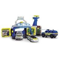 Dickie Toys - Pista de masini SWAT Station cu 3 masini de politie si drona
