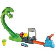Hot Wheels - Pista de masini City Toxic Snake Strike Cu masinuta, Cu slime by Mattel