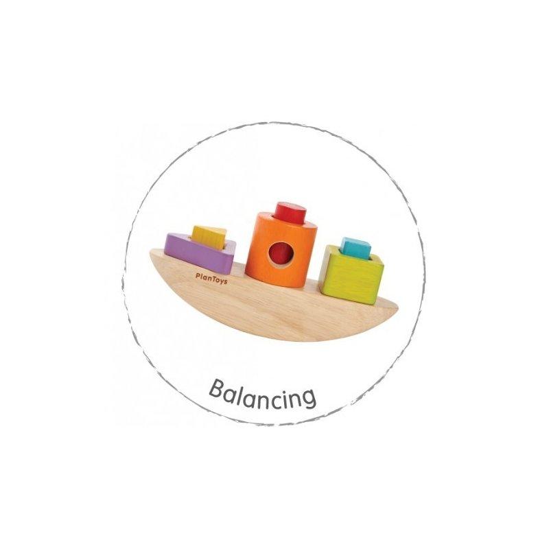Plan Toys Barcuta pentru stivuit din categoria Jucarii de lemn de la Plan Toys
