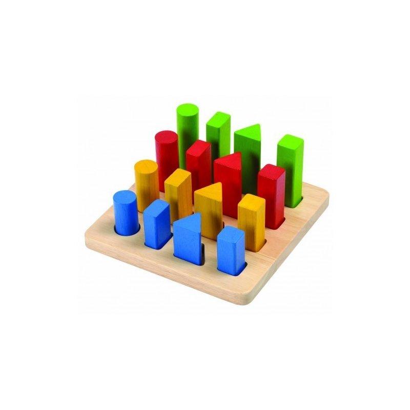 Plan Toys Joc de sortare cu forme geometrice din categoria Jucarii de lemn de la Plan Toys