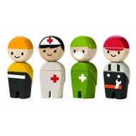 Plan Toys - Papusi din lemn Multicolor