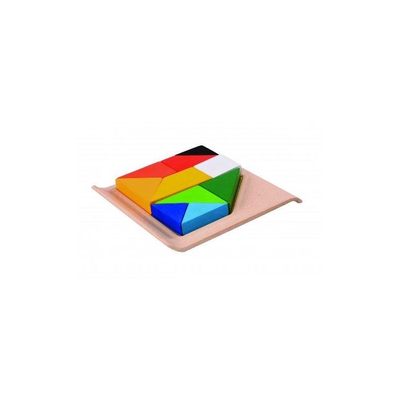Plan Toys Puzzle din lemn cu forme geometrice din categoria Puzzle copii de la Plan Toys