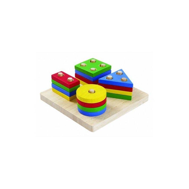 Plan Toys Set de sortare cu forme geometrice din categoria Jucarii de lemn de la Plan Toys
