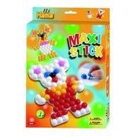 Hama - Set creativ Ursulet In cutie de cadou, Cu planseta, Cu 140 tepuse ciuperci Maxi Stick