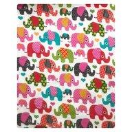 Deseda - Plapuma din finet 140x110 cm  Elefantei roz