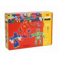 Plus Plus - Jucarie de constructie Neon Roboti, 170 piese