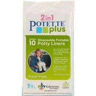 Potette Plus - Pachet economic Albastru olita portabila + liner reutilizabil + 10 pungi biodegradabile