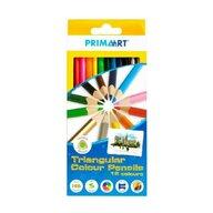 Prima Art - Set creioane Colorate 12 bucati, Triangulare