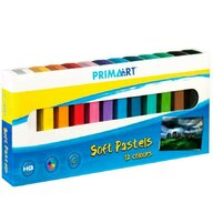 Prima Art - Creioane Soft Pastels Pasteluri moi, Cretate, 12 culori