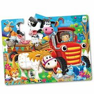 THE LEARNING JOURNEY - Puzzle de podea Animale la Ferma Puzzle Copii, piese 12