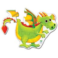 THE LEARNING JOURNEY - Puzzle de podea Dragon Puzzle Copii, piese 12