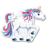 THE LEARNING JOURNEY - Puzzle de podea Unicorn Puzzle Copii, piese 12
