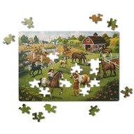 Melissa & Doug - Puzzle animale Calutii Puzzle Copii, pcs  100