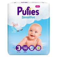 Pufies - Scutce Sensitive, Midi (3),100 buc.