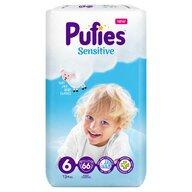 Pufies - Scutece Sensitive, Extra Large (6), 66 buc.