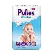 Pufies - Scutece Sensitive, Junior (5), 48 buc.