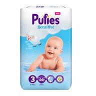 Pufies - Scutece Sensitive, Midi (3), 66 buc.