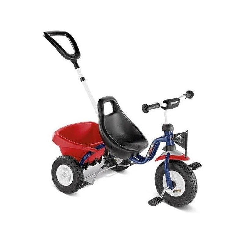 Puky Tricicleta cu maner CAT 1 L albastru din categoria Triciclete si Trotinete pentru copii de la Puky