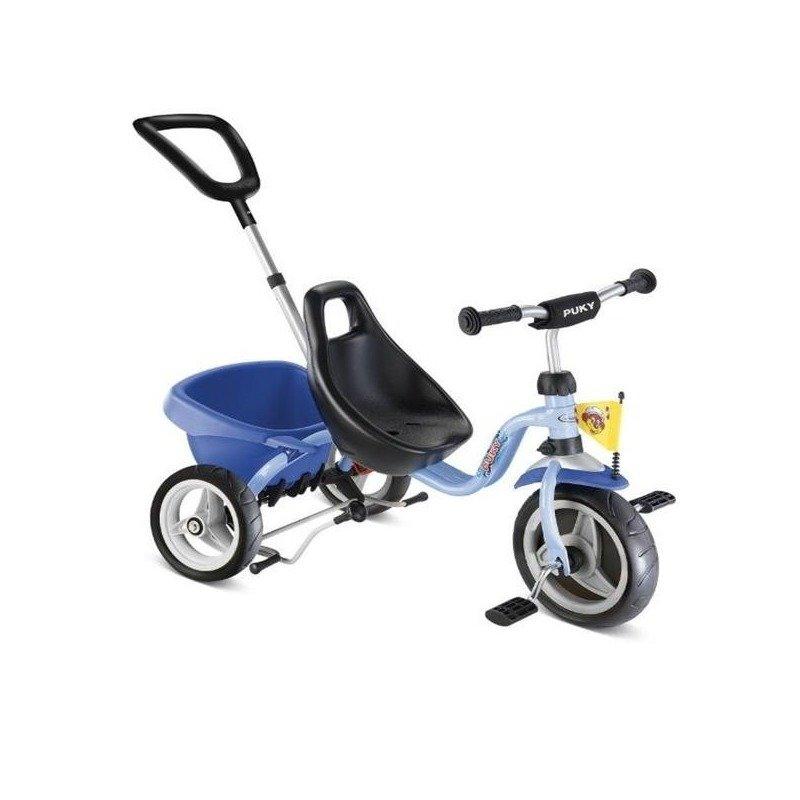 Puky Tricicleta cu maner CAT 1 S albastru din categoria Triciclete si Trotinete pentru copii de la Puky