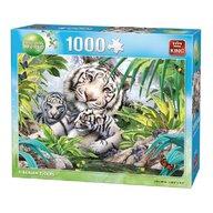 Puzzle 1000 piese Tigru Siberian alb