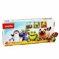 Cubika - Puzzle educativ 3 in 1 Animalutele preferate Puzzle Copii, pcs  50
