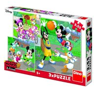 Dino - Toys - Puzzle 3 in 1 Mickey si Minnie sportivii 55 piese