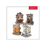 CUBICFUN - Puzzle 3D Harry Potter - Aleea Diagon  4 in 1 Puzzle Copii, piese 273