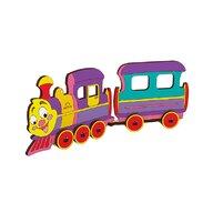 Ugears - Puzzle 3D Locomotiva, din lemn, +5 ani, uGears