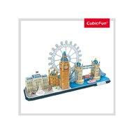 CUBICFUN - Puzzle 3D Londra Nivel complex Puzzle Copii, piese 107