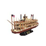 CUBICFUN - Puzzle 3D Nava Mississippi Steamboat USA Puzzle Copii, piese 142