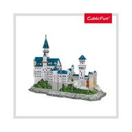 CUBICFUN - Puzzle 3D Castelul Neuschwastein Cu brosura Puzzle Copii, piese 121