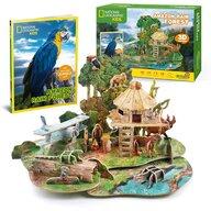 CUBICFUN - Puzzle 3D Padure amazoniana Cu brosura Puzzle Copii, piese 67