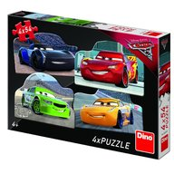 Dino - Toys - Puzzle 4 in 1 Cars 3 (54 piese)