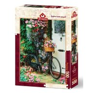 Puzzle 500 piese, BICYCLE & FLOWERS