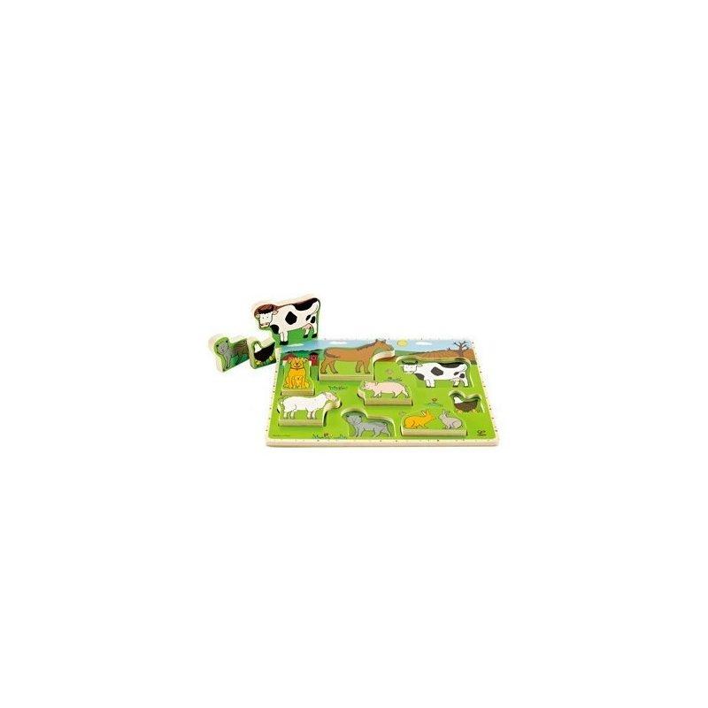 Puzzle animale domestice din categoria Puzzle copii de la Hape