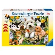 Ravensburger - Puzzle Animale prietenoase, 300 piese