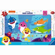 Ravensburger - Puzzle personaje Baby shark , Puzzle Copii, piese 15