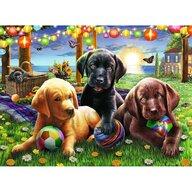 Ravensburger - Puzzle animale Catei la picnic Puzzle Copii, piese 100