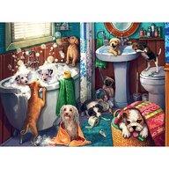 Ravensburger - Puzzle animale Catelusi in baie Puzzle Copii, piese 200