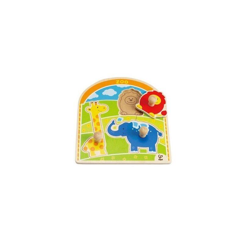Puzzle cu buton la Zoo HAPE din categoria Puzzle copii de la Hape