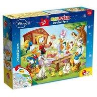 Lisciani - Puzzle personaje Familia Donald Duck Cu desen de colorat Puzzle Copii, piese 35