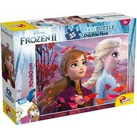 Lisciani - Puzzle personaje Frozen II Cu desen de colorat Puzzle Copii, piese 35