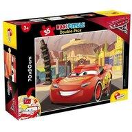 Lisciani - Puzzle personaje Cars 3 Maxi, Cu desen de colorat Puzzle Copii, piese 35