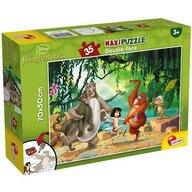 Lisciani - Puzzle personaje Cartea Junglei Maxi, Cu desen de colorat Puzzle Copii, piese 35