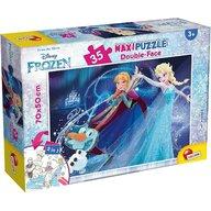 Lisciani - Puzzle personaje Frozen Maxi, Cu desen de colorat Puzzle Copii, piese 35