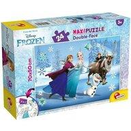 Lisciani - Puzzle personaje Frozen la patinoar Maxi, Cu desen de colorat Puzzle Copii, piese 24