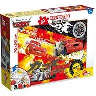 Lisciani - Puzzle personaje Fulger McQueen Maxi, Cu desen de colorat Puzzle Copii, piese 60